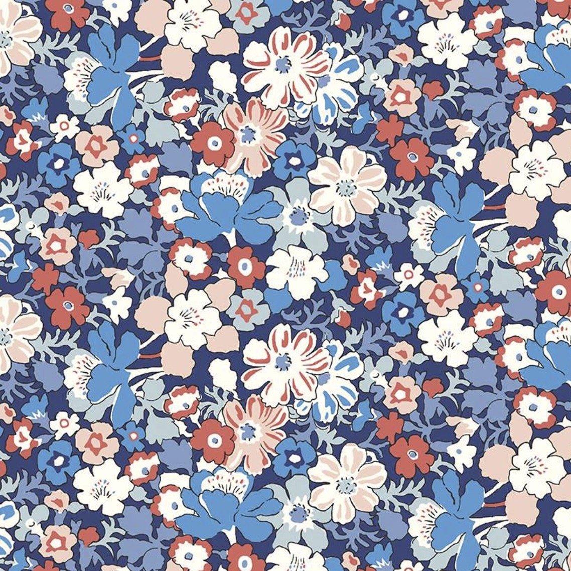 Liberty Fabrics The Carnaby Collection - Retro Indigo (Westbourne Posy A)