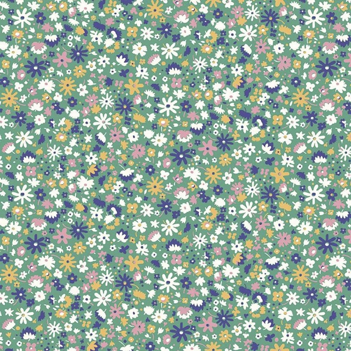 Liberty Fabrics The Carnaby Collection - Bohemian Brights (Bloomsbury Blossom C)