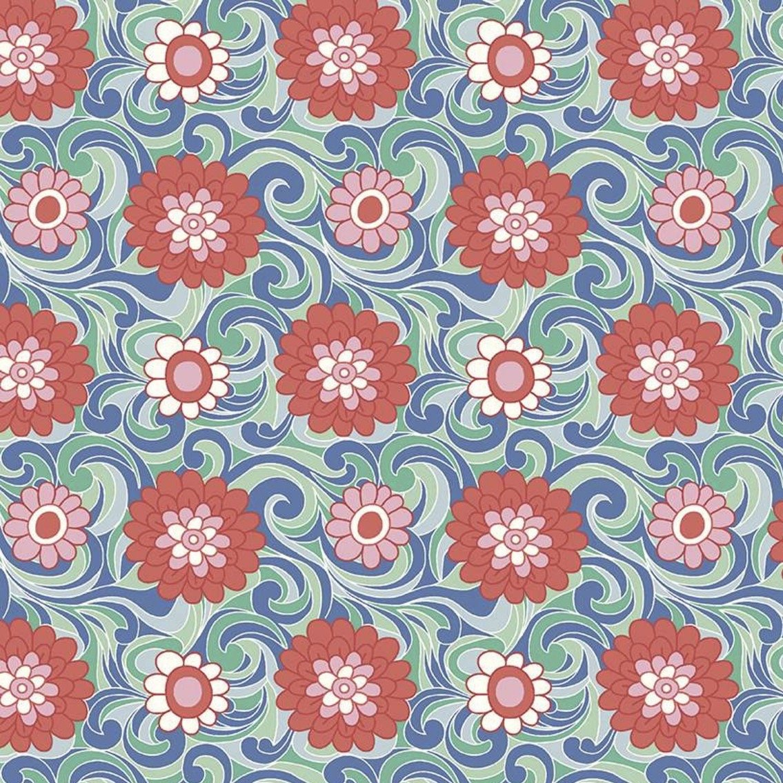 Liberty Fabrics The Carnaby Collection - Bohemian Brights (Carnation Carnival C)