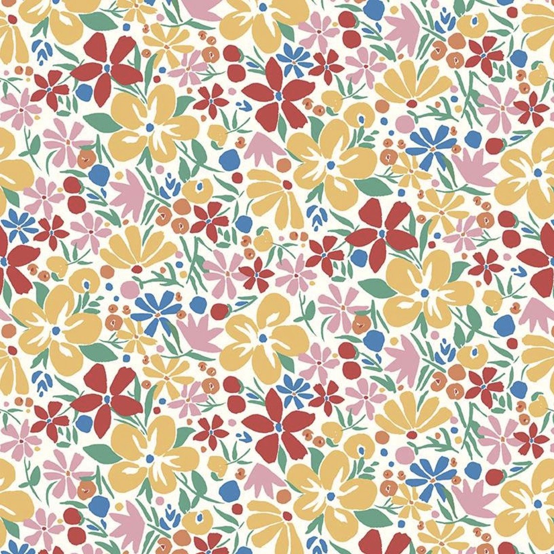 Liberty Fabrics The Carnaby Collection - Bohemian Brights (Bohemian Bloom C)