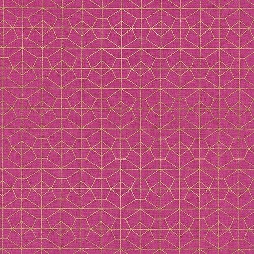 Rashida Coleman-Hale Akoma - Geo Grid (Fuschia/Metallic)
