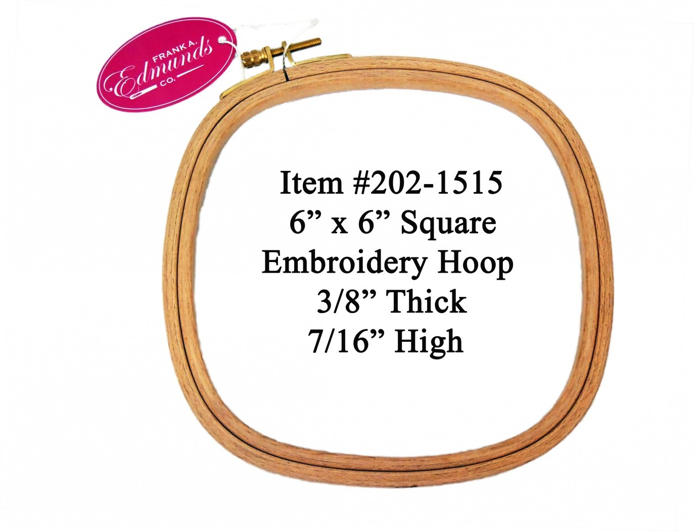 6 Square Embroidery Hoop