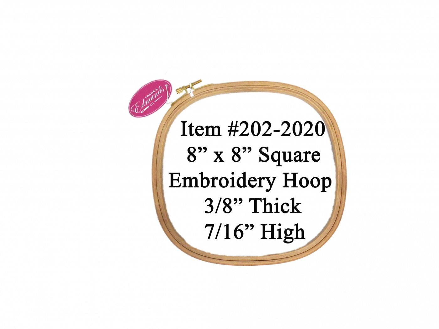 8 Square Embroidery Hoop