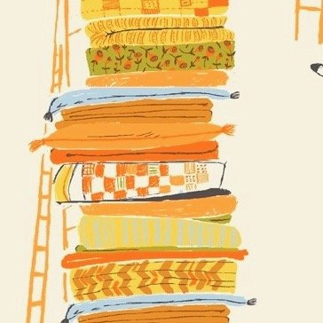 Heather Ross 20th Anniversary - Yellow Princess and the Pea