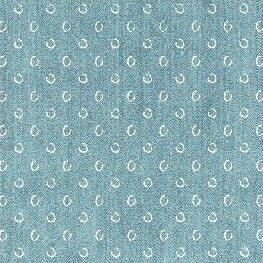 Atlas Flannel - Sketchy Circles (Blue)