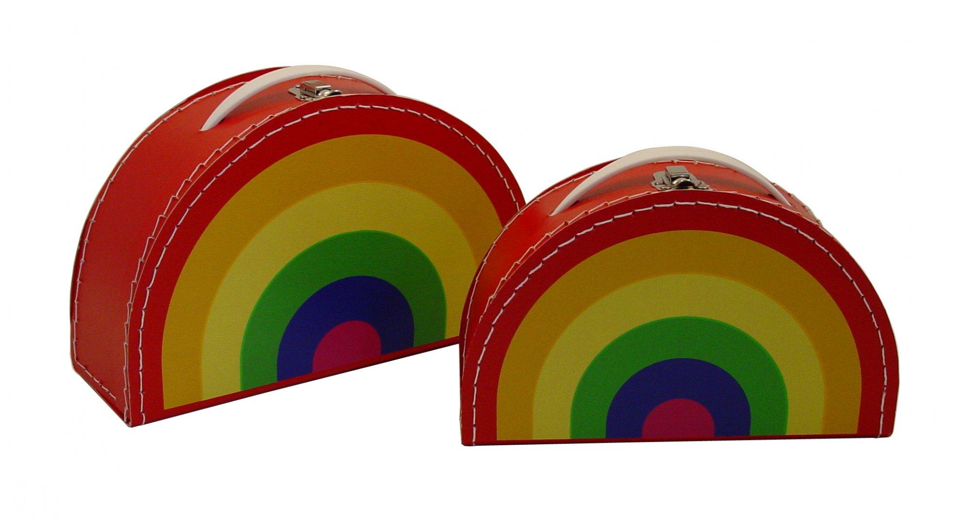 Vintage Traveler Mini Suitcase (Rainbow)