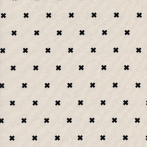 Cotton + Steel Basics - XOXO (Chocolate Chip)