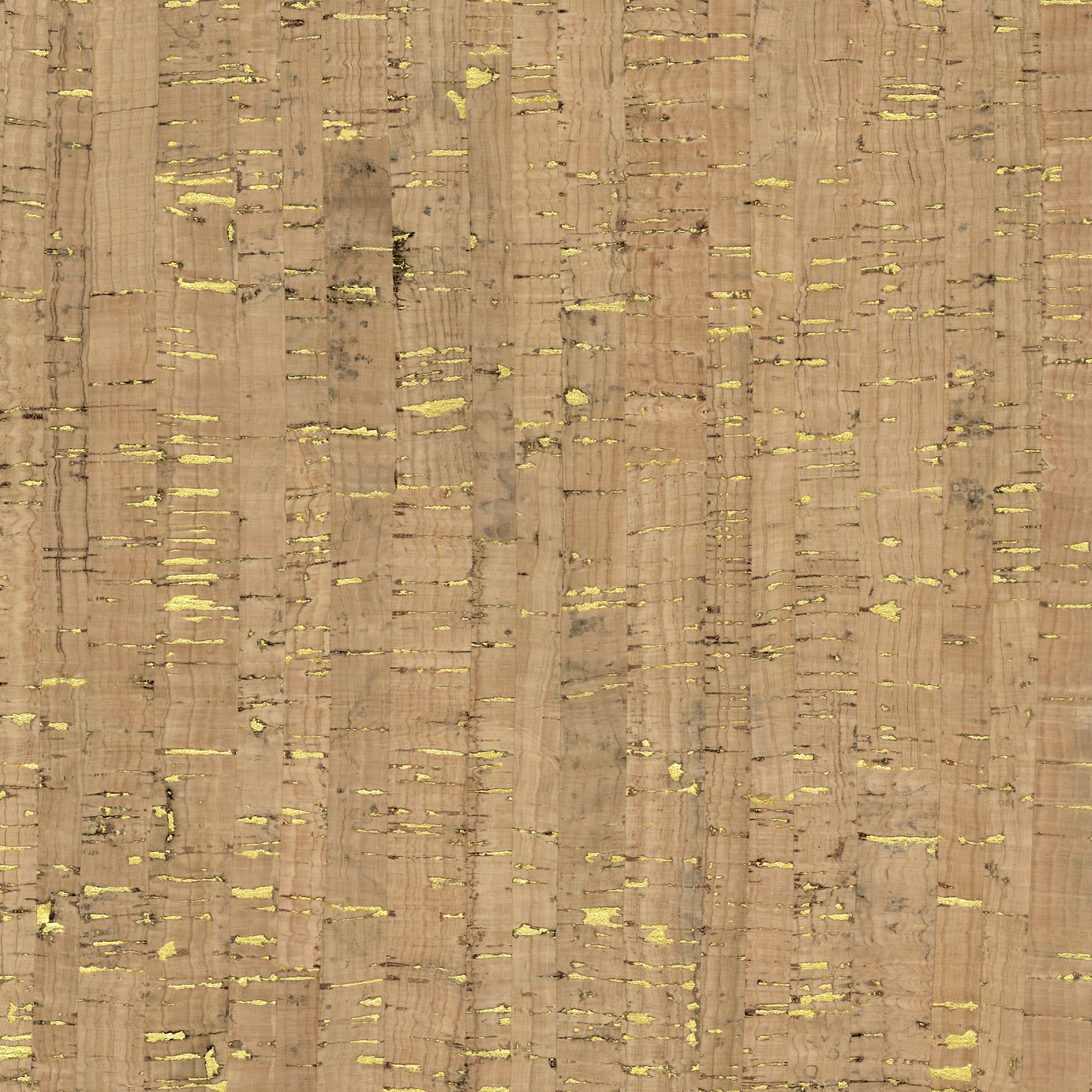 Cork Fabric (Natural with Metallic Accent)