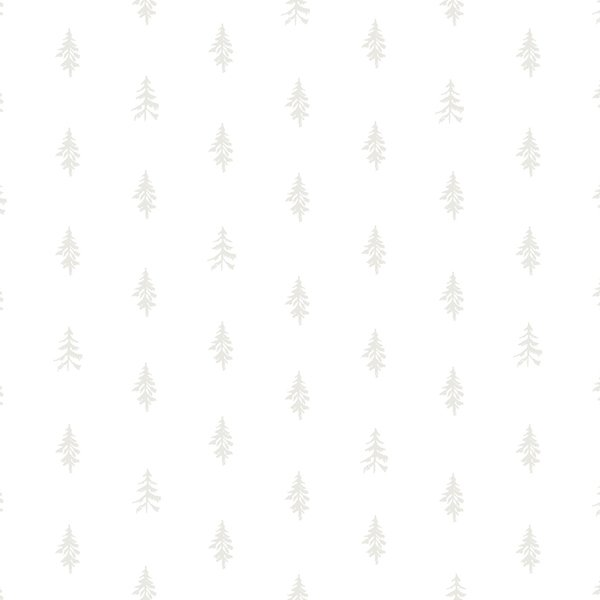 Heather Givans Night Hike - Trees (White on White)