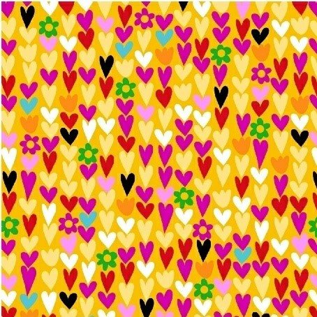 I Heart You by Another Point of View - Mini Hearts (Yellow)