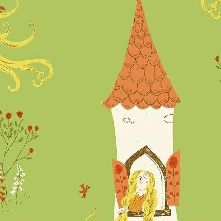 Heather Ross Far Far Away 2 - Rapunzel (Green)