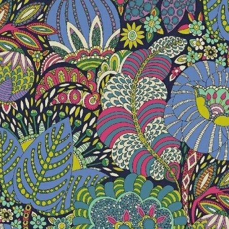 Sally Kelly Fantasy - Floral Fantasy (Navy)