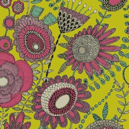 Sally Kelly Fantasy - Wild Garden (Chartreuse)