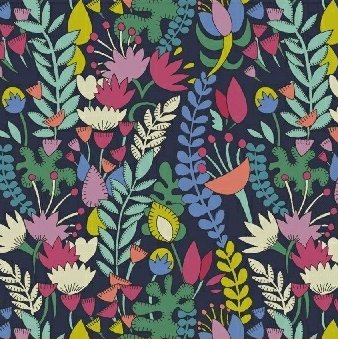Sally Kelly Fantasy - Florabundent (Navy)