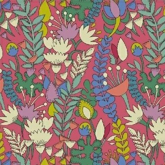 Sally Kelly Fantasy - Florabundent (Raspberry)