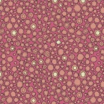 Sally Kelly Fantasy - Flower Buttons (Raspberry)