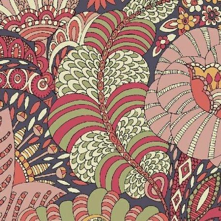Sally Kelly Fantasy Lawn - Floral Fantasy (Shadow)