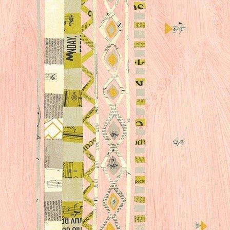 Carrie Bloomston Wish - Zigzag Border (Millenial Pink Metallic)