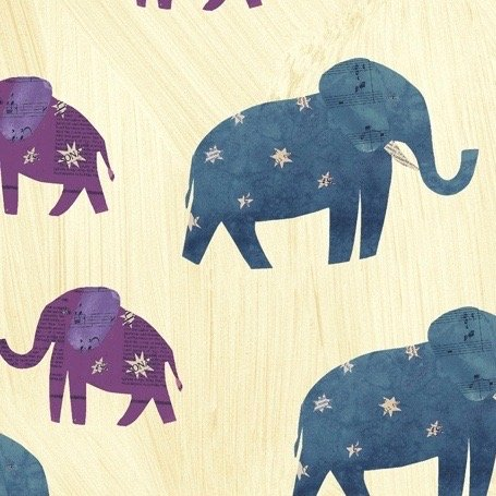 Carrie Bloomston Wish - Starry Elephants (Old Paper)