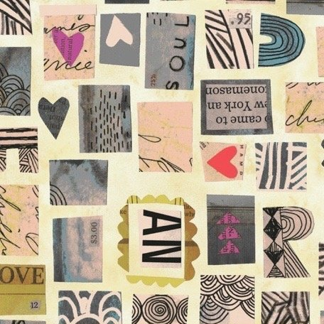 Carrie Bloomston Wish - Postage Stamps (Old Paper)