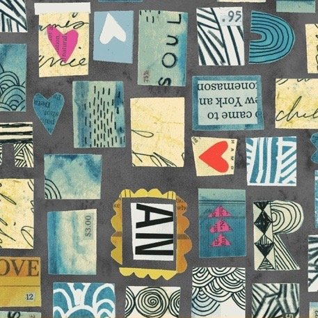 Carrie Bloomston Wish - Postage Stamps (MIdnight)