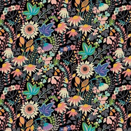Sally Kelly Paradiso - Flower Bed (Black)