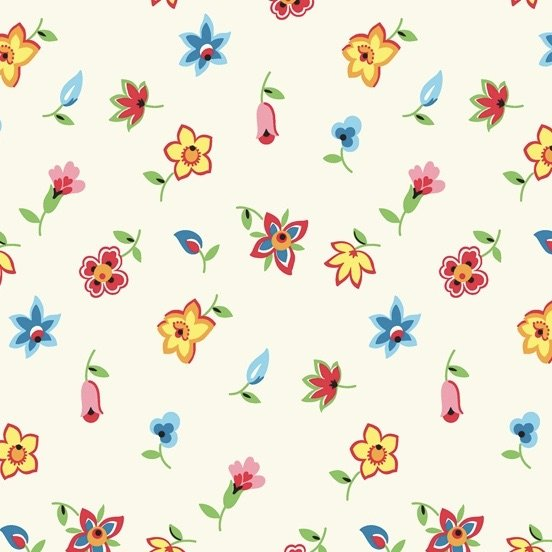 Denyse Schmidt Five and Ten - Floral Toss (Ivory)