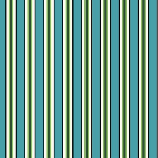 Denyse Schmidt Five and Ten - Candy Stripe (Cyan)