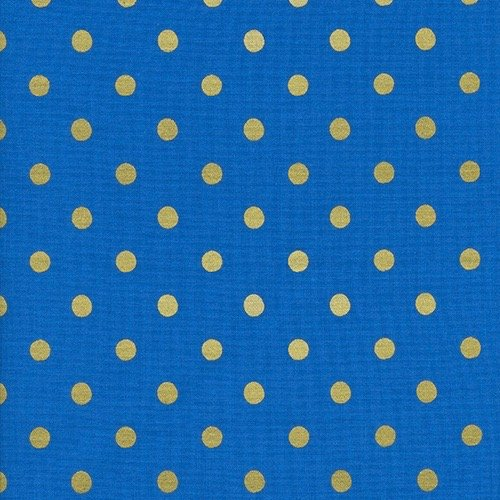 Rifle Paper Wonderland - Caterpillar Dots (Cobalt Metallic)