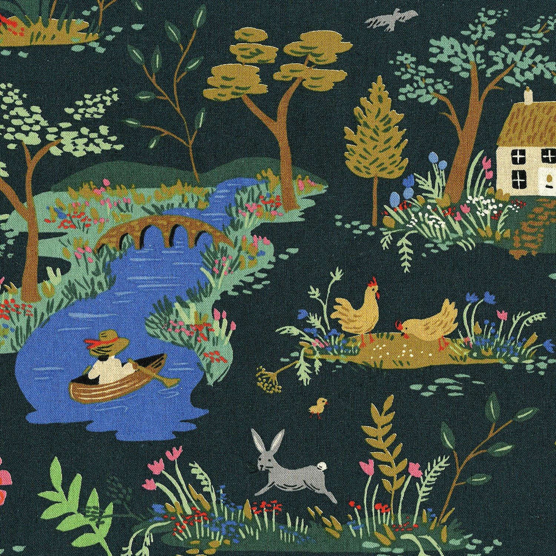 Rifle Paper English Garden Canvas - Garden Toile (Dark)