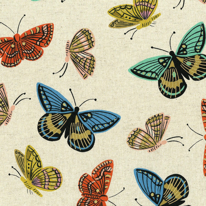 Rifle Paper English Garden Canvas - Monarch (Natural/Metallic)