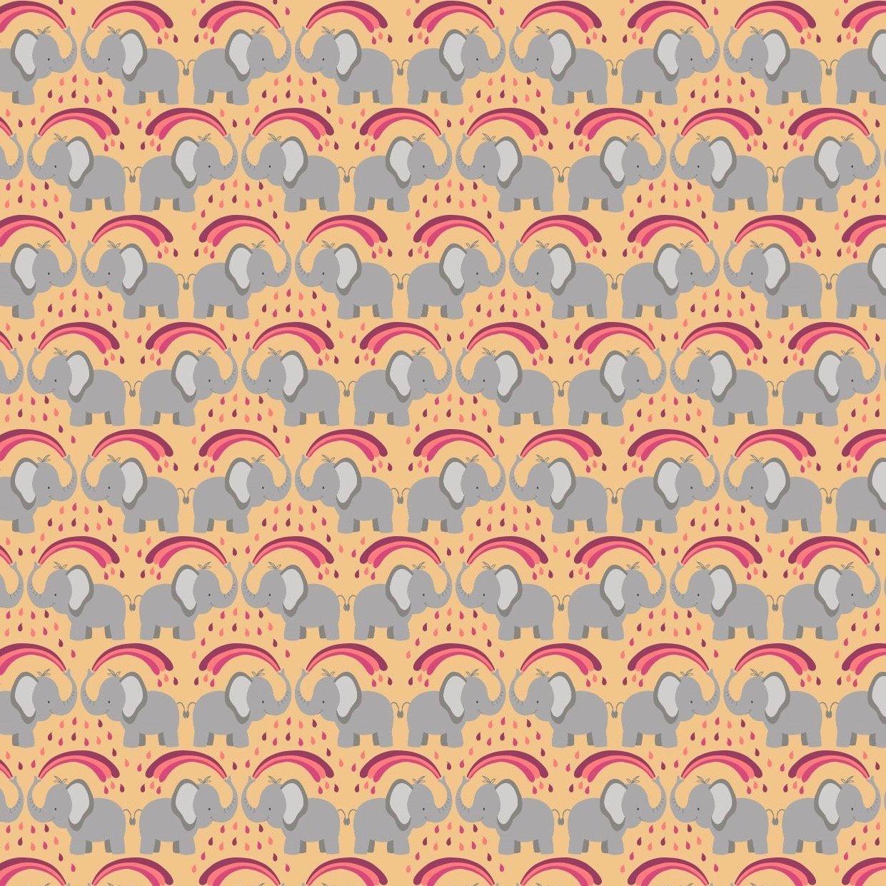 Lewis & Irene Rainbows - Rainbow Elephants (Ochre)