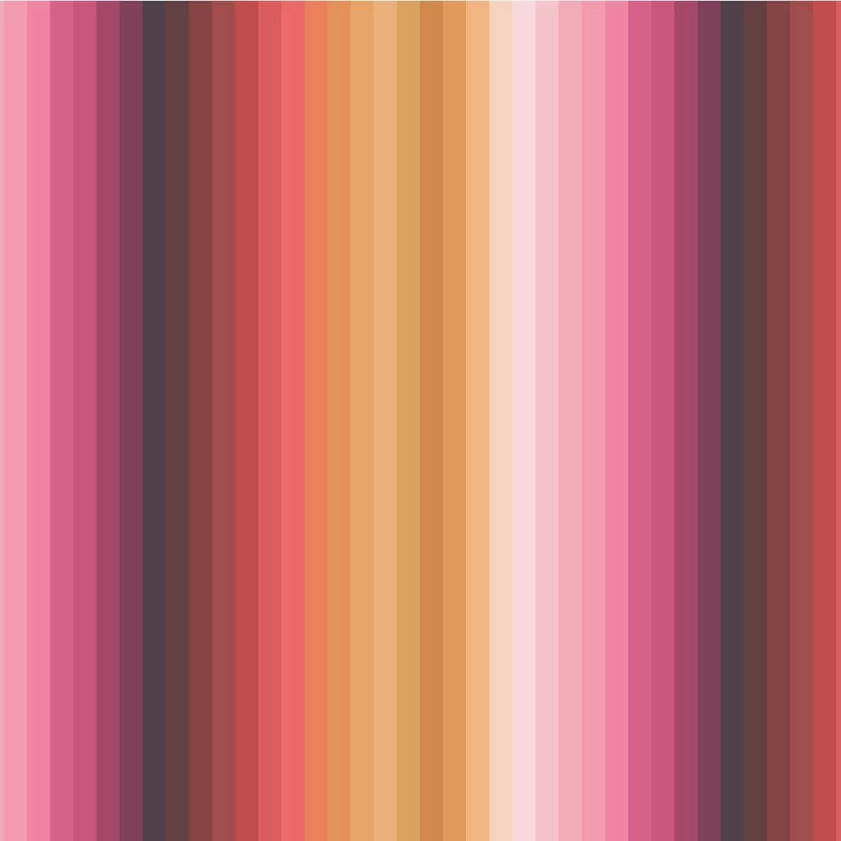 Lewis & Irene Rainbows - Rainbow Stripes (Ochre)