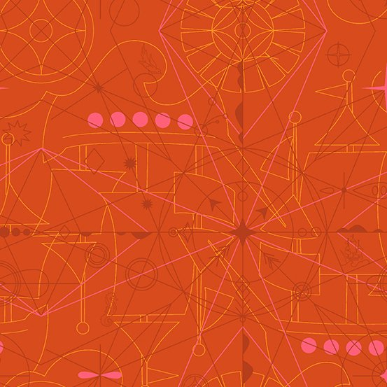 Alison Glass Sun Print 2018 - Compass (Marmalade)