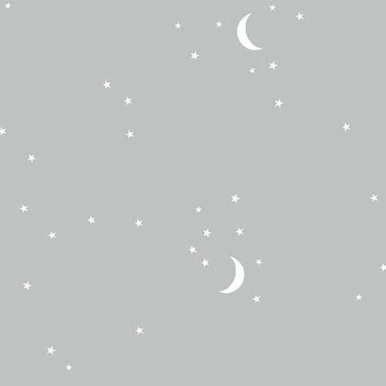 Andover Fabrics Moon and Stars (Gray)