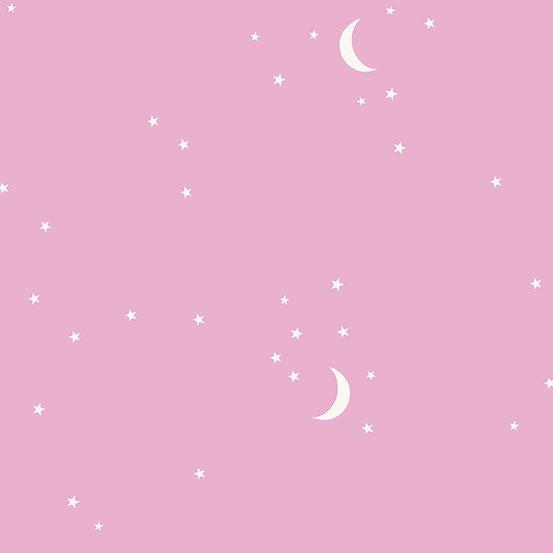 Andover Fabrics Moon and Stars (Pink)