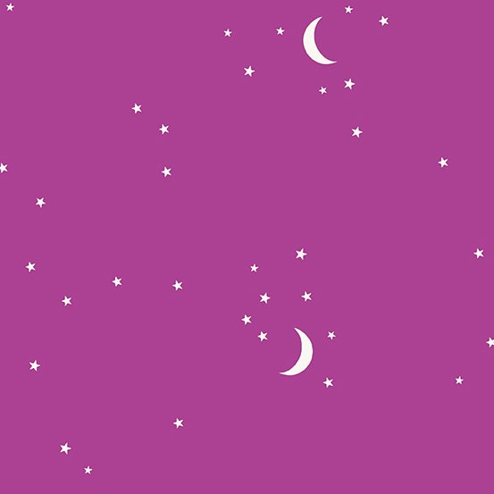 Andover Fabrics Moon and Stars (Mulberry)