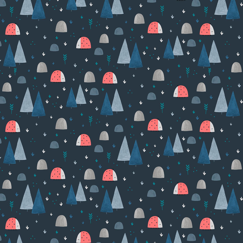 Cotton + Steel Summer Skies - Ladybug Land (Midnight)