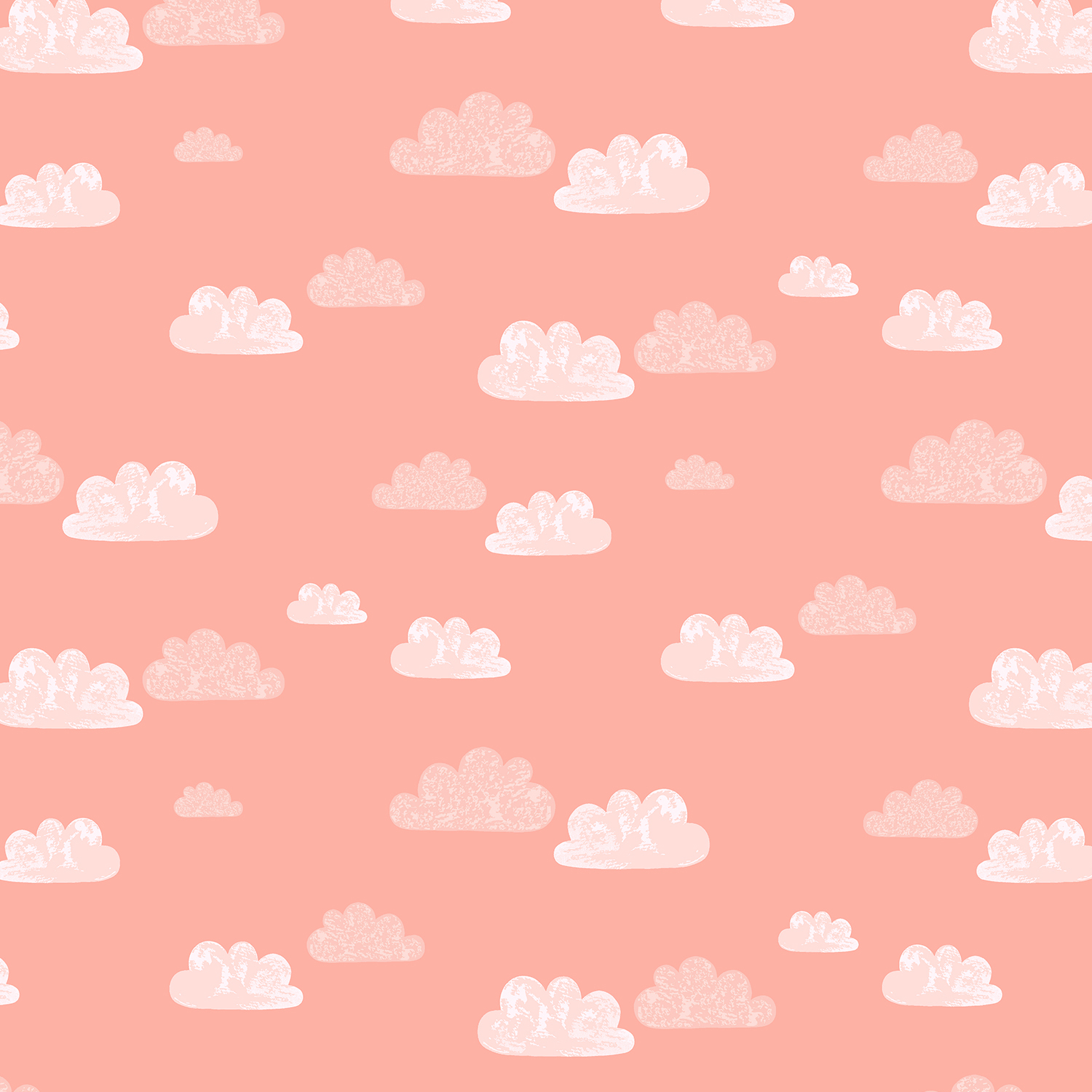 Cotton + Steel Summer Skies - Summer Clouds (Blush)