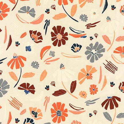 Anna Graham Forage - Tossed Floral (Champagne)