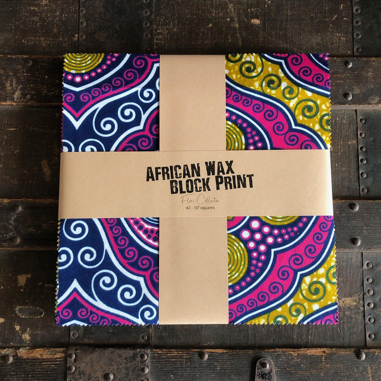 African Wax Block Print Cake - (42) 10 squares