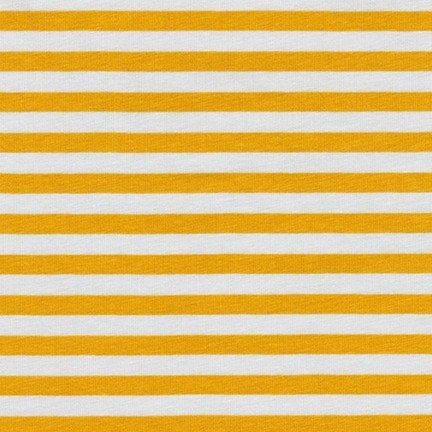 Carolyn Friedlander Blake Cotton Jersey - Stripes (Silver)