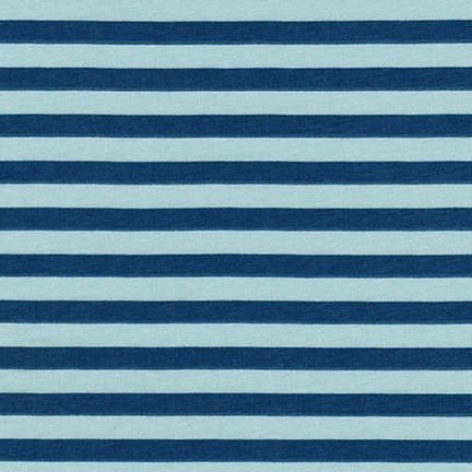 Carolyn Friedlander Blake Cotton Jersey - Stripes (Fog)