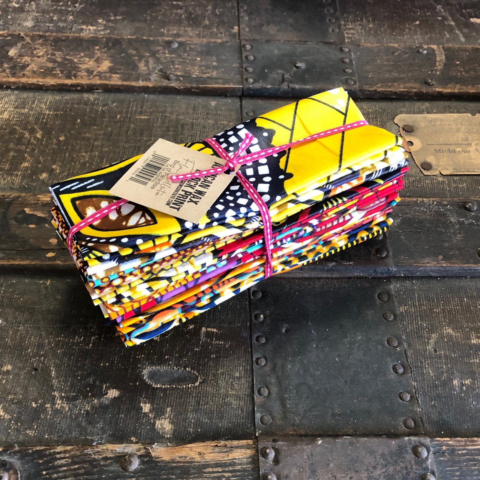 African Wax Block Print - 14 pc. Fat Eighth Bundle (Bird of Paradise)