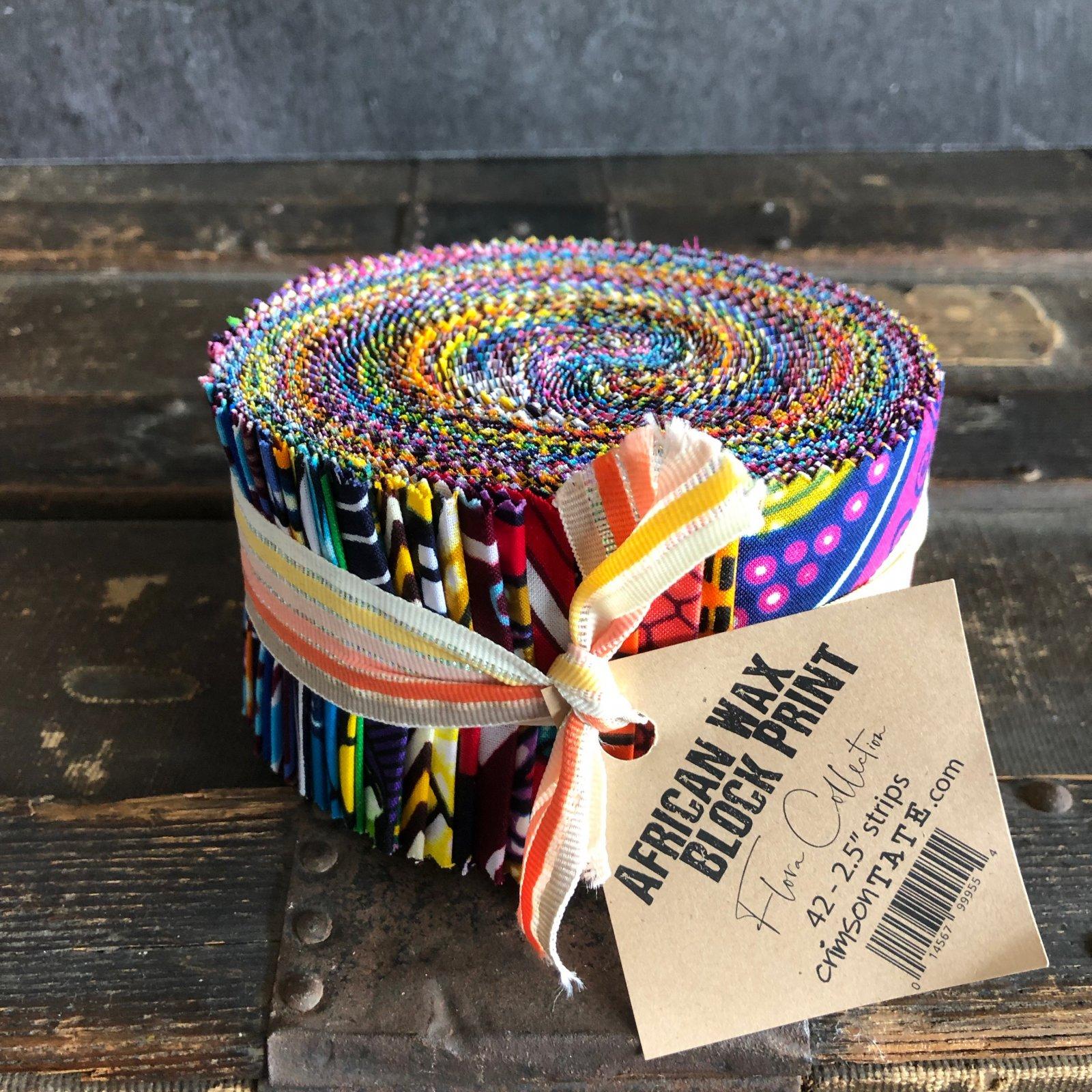 African Wax Block Print Strips - (42) 2.5 strips