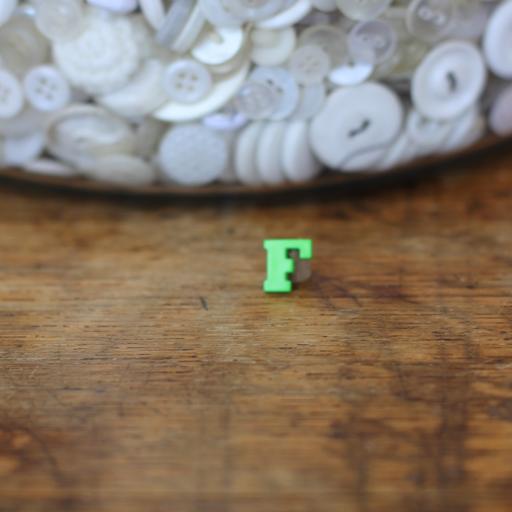 Alphabet Button - F