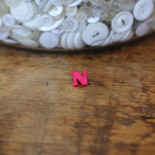 Alphabet Button - N