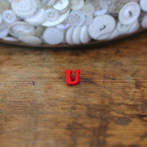 Alphabet Button - U