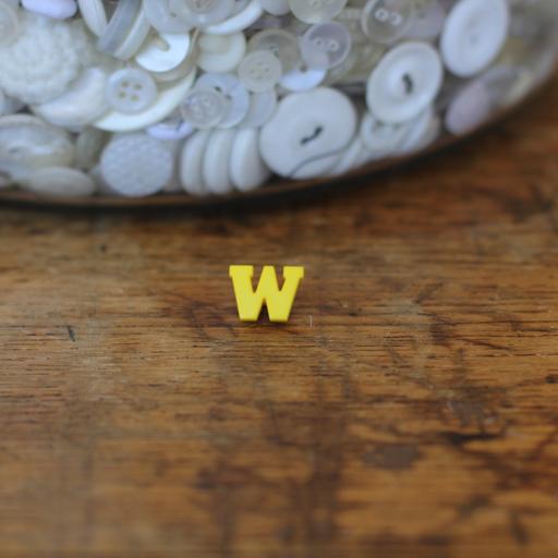 Alphabet Button - W
