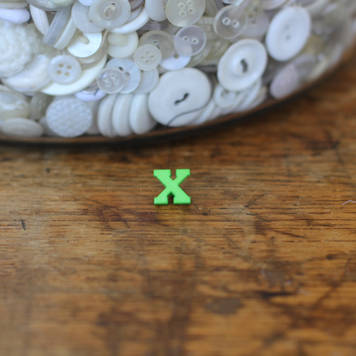 Alphabet Button - X